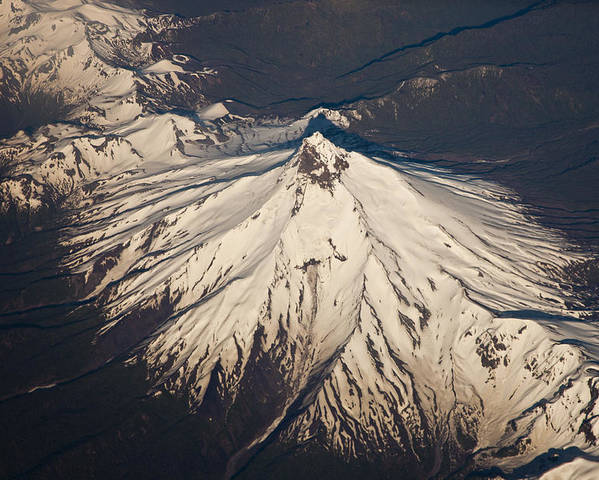 00479602 Poster featuring the photograph Snowcovered Volcano Andes Chile by Colin Monteath