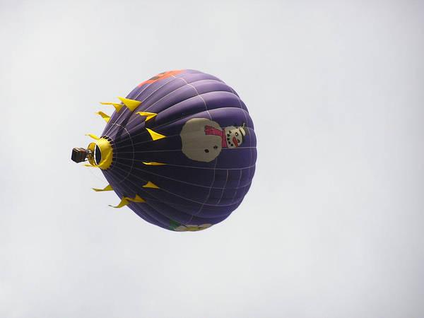 Balloon Poster featuring the photograph Snowman Balloon by FeVa Fotos