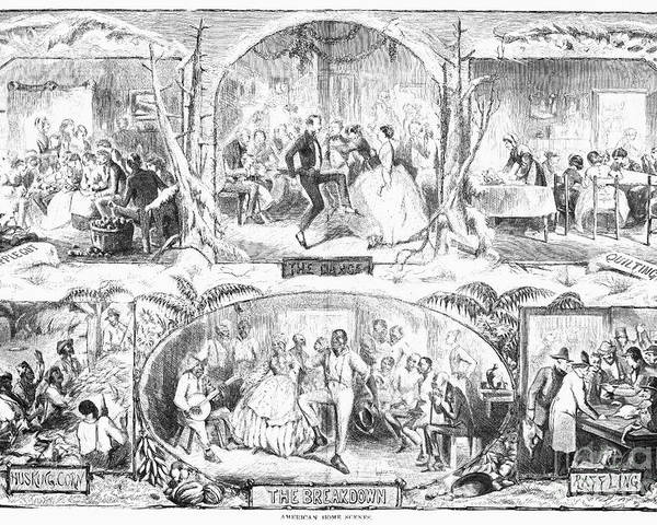 1861 Poster featuring the photograph Social Activities, 1861 by Granger