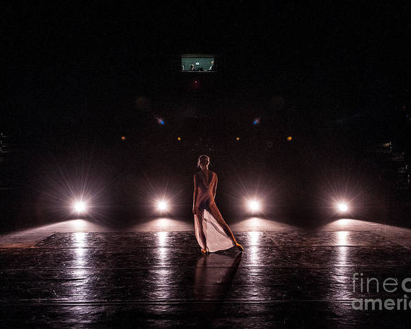 Performance Poster featuring the photograph Solo Dance Performance by Scott Sawyer
