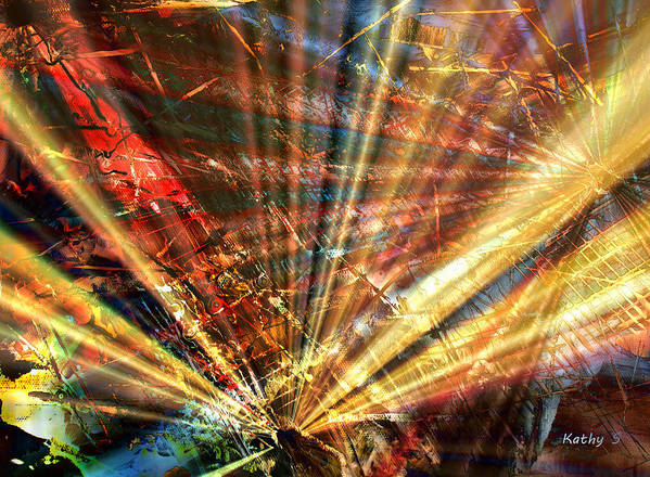 Luminosity Poster featuring the painting Sound Of Light by Kathy Sheeran