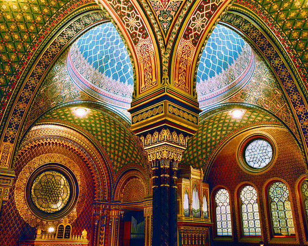 Spanish Synagogue Poster featuring the photograph Spanelska by John Galbo