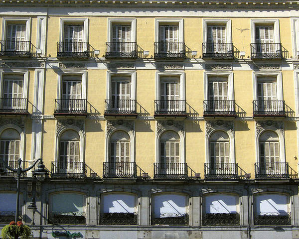 Spain Poster featuring the photograph Spanish Facade Madrid by Perry Van Munster