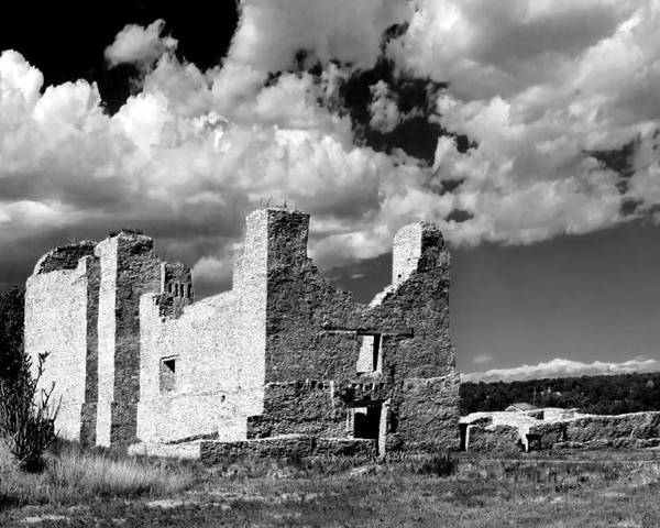 Quarai Poster featuring the photograph Spanish Mission Ruins Of Quarai Nm by Christine Till