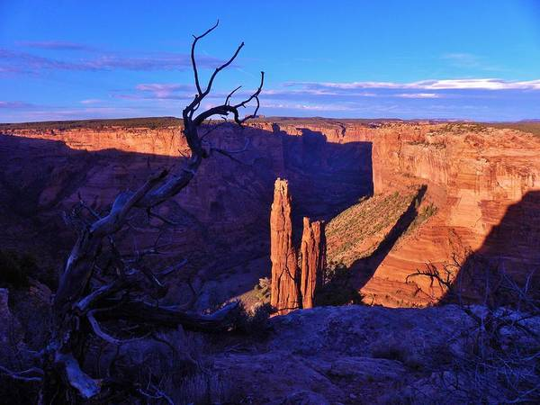Canyon De Chelly Poster featuring the photograph Spider Rock by John Wanserski
