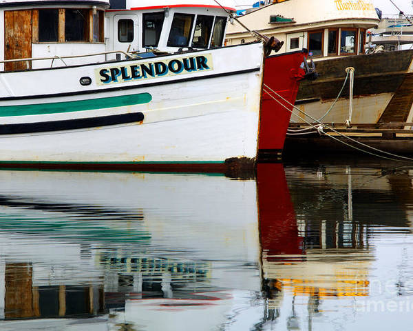 Fishing Boats Poster featuring the photograph Splendour by Bob Christopher