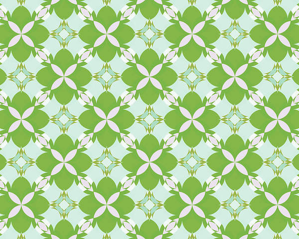 Retro Patterns Poster featuring the digital art Spring Avunclover by JaNell Golden