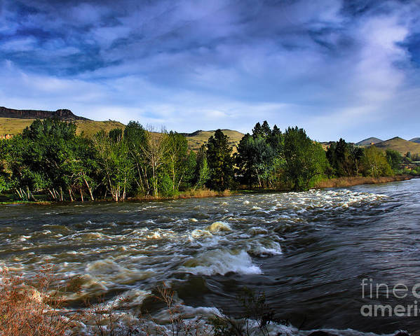 Emmett Poster featuring the photograph Spring Flow by Robert Bales