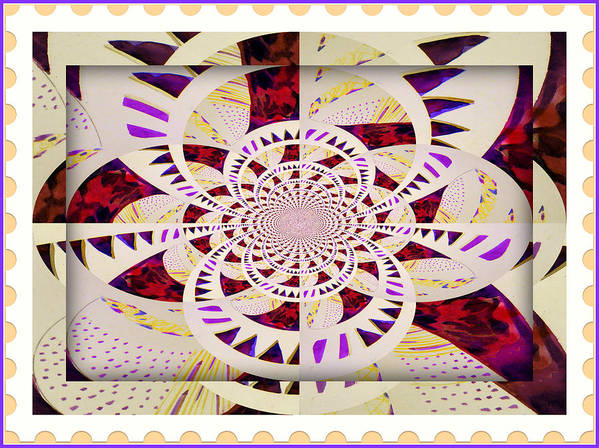 Capri Poster featuring the painting Spring Mandala by Mindy Newman