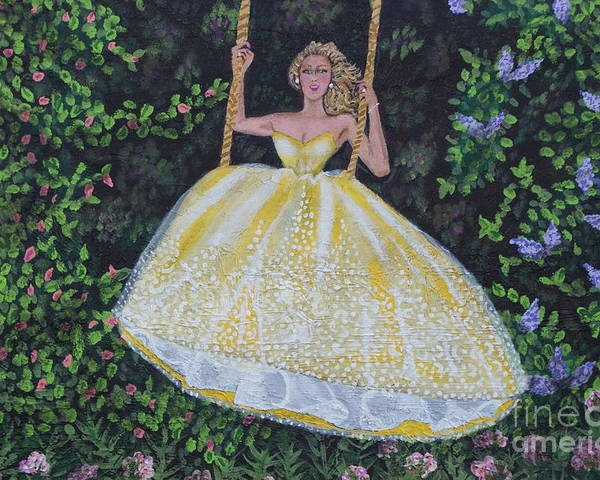 Rope Swing Poster featuring the painting Spring Swing by William Ohanlan