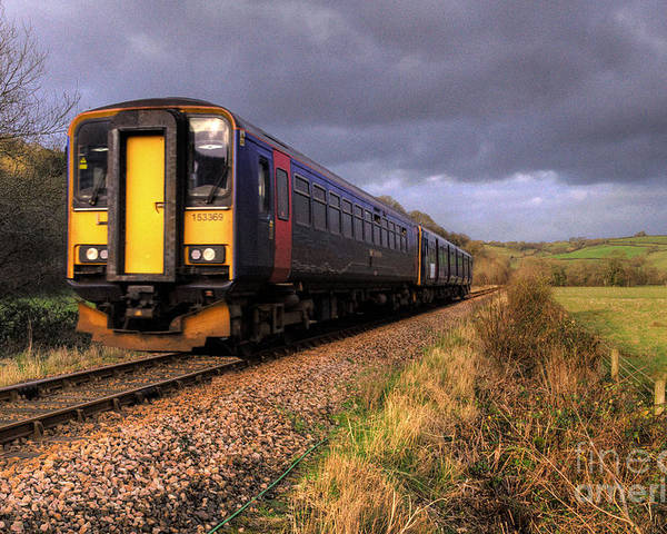 Train Poster featuring the photograph Sprinters At Scoop by Rob Hawkins