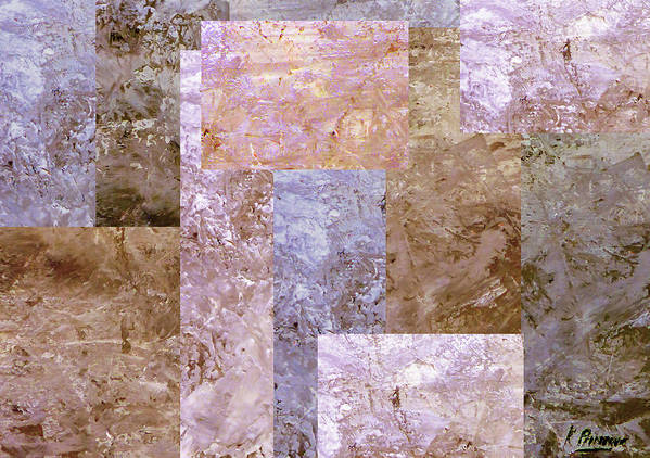 Squares Poster featuring the mixed media Square Deal by Kenny Primmer