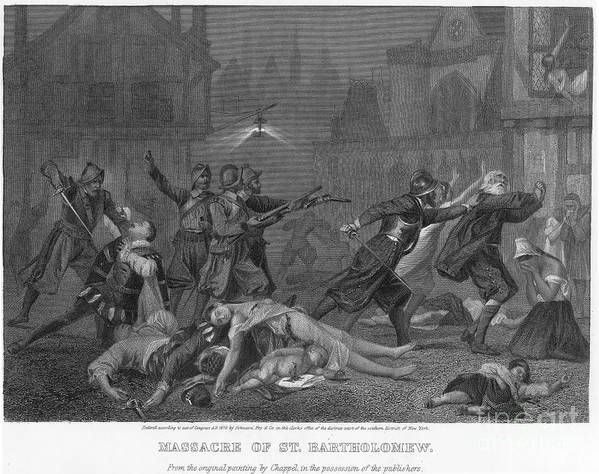 1572 Poster featuring the photograph St Bartholomews Massacre by Granger