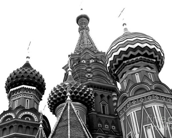 Moscow Poster featuring the photograph St. Basil's Cathedral 15 by Padamvir Singh