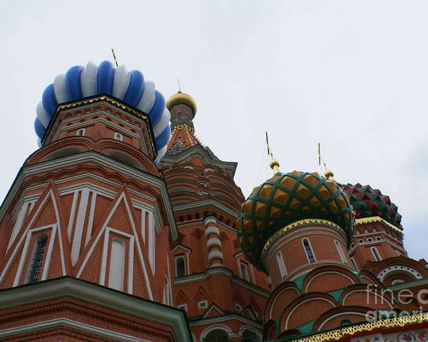 Moscow Poster featuring the photograph St. Basil's Cathedral 19 by Padamvir Singh