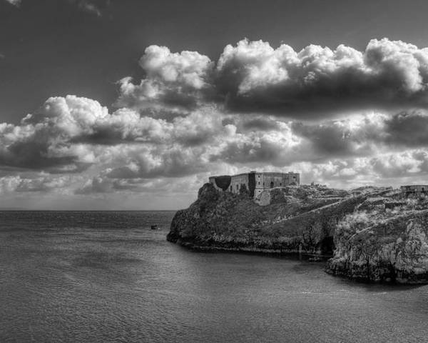 St Catherines Rock Tenby Poster featuring the photograph St Catherines Rock Tenby by Steve Purnell