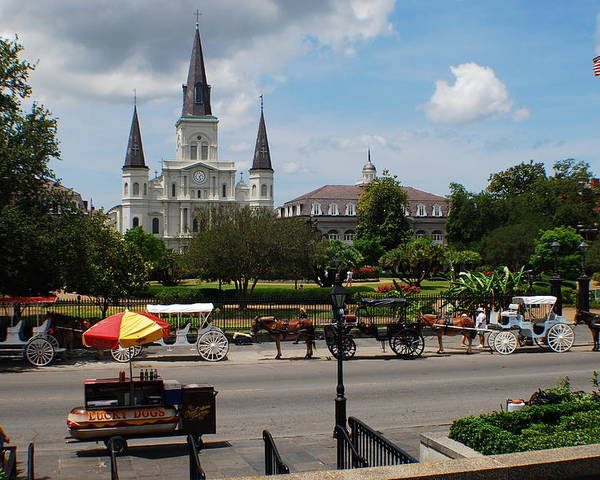 St. Louis Cathedral Poster featuring the photograph St. Louis Cathedral by Beth Gates-Sully