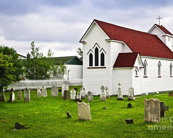 Placentia Poster featuring the photograph St. Luke's Church In Placentia Newfoundland by Elena Elisseeva