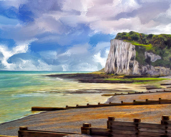 St. Margaret Poster featuring the painting St. Margaret's Bay At Dover by Dominic Piperata