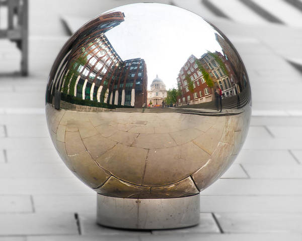 Architecture Poster featuring the photograph St Paul Cathedrals Reflection by Svetlana Sewell