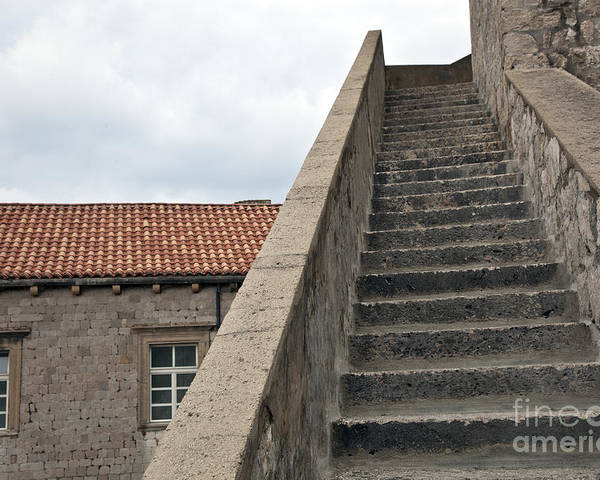 Dubrovnik Poster featuring the photograph Stairway In Dubrovnik by Madeline Ellis