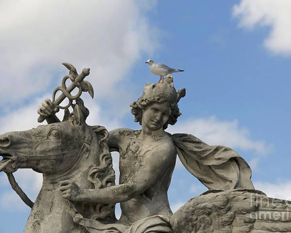 Paris Poster featuring the photograph Statue . Place De La Concorde. Paris. France by Bernard Jaubert