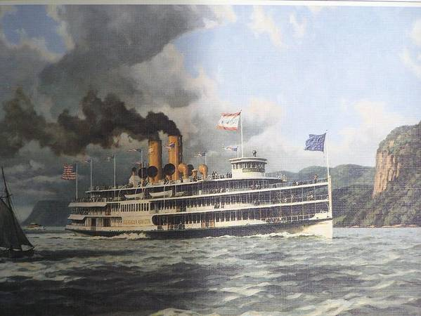 William G Muller Poster featuring the photograph Steamer Alexander Hamilton William G Muller by Jake Hartz