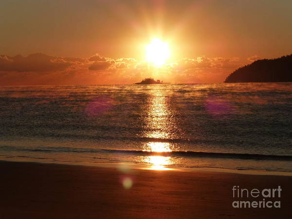 Ocean Steam Poster featuring the photograph Steamy Sunrise by Nadine Kelly