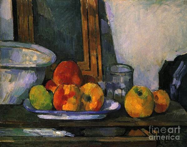 Cezanne Poster featuring the painting Still Life With An Open Drawer by Extrospection Art