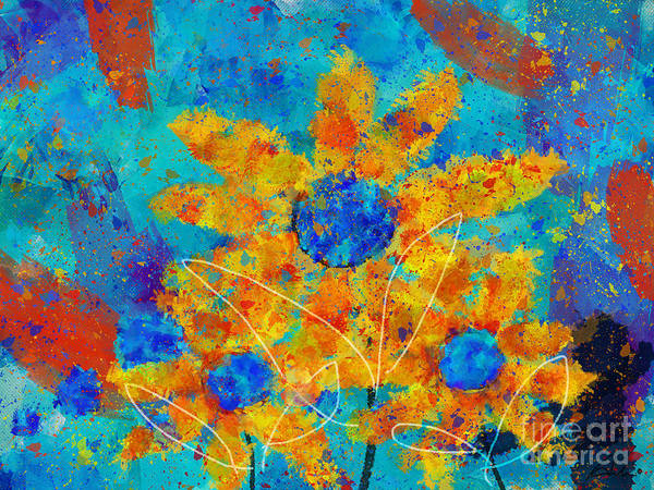 Painting Poster featuring the digital art Stimuli Floral S01 by Variance Collections