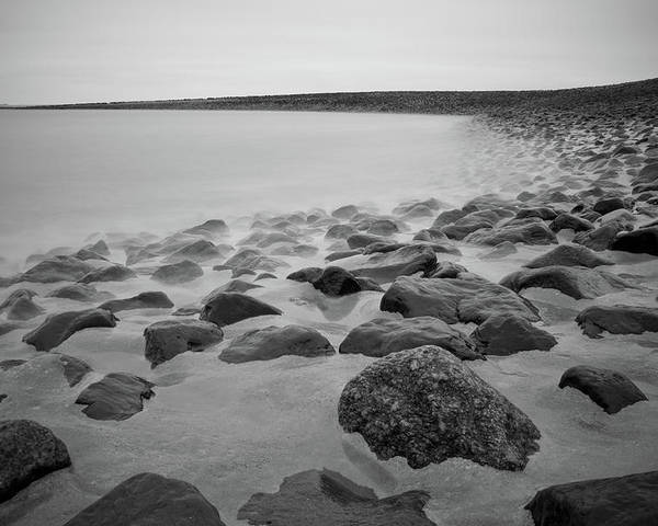 Horizontal Poster featuring the photograph Stones In North Sea In Germany by by Felix Schmidt