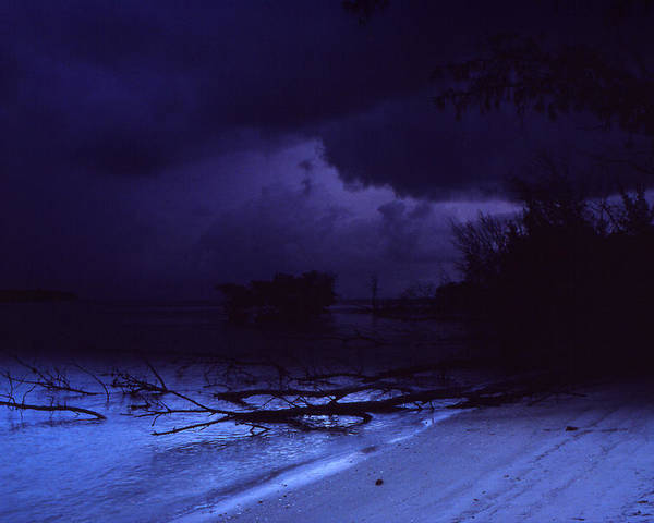 Storm Poster featuring the photograph Storm At Dawn by Bob Whitt