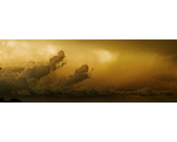 Stormclouds Poster featuring the pyrography Storm Clouds by Miles Schuster