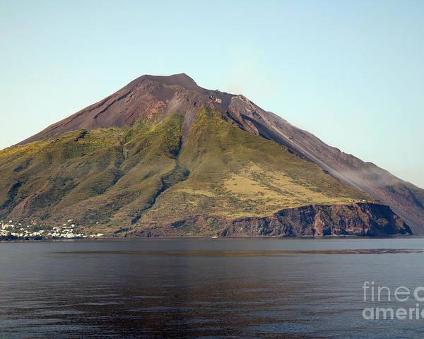 Aeolian Islands Poster featuring the photograph Stromboli Volcano, Aeolian Islands by Richard Roscoe