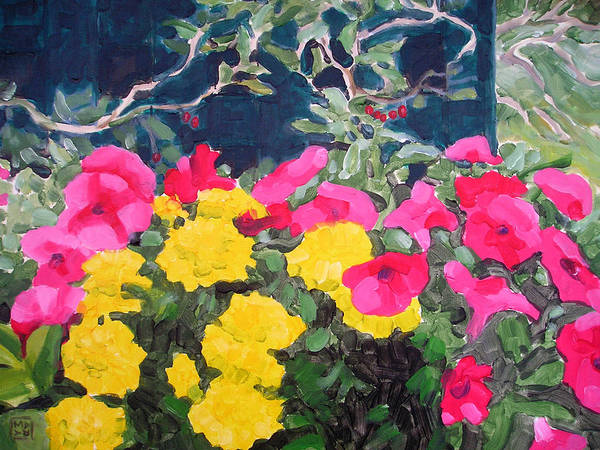 Flowers Poster featuring the painting Summer Glory by Mary Brooking