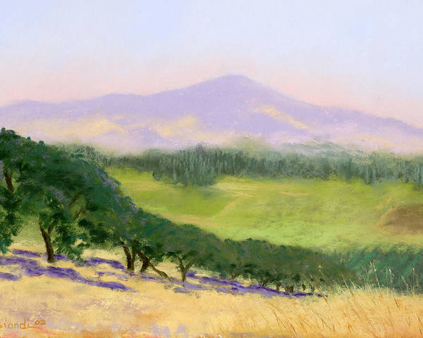 Pastel Poster featuring the pastel Summer Haze by Janet Biondi