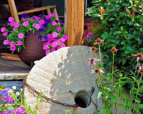 Still Life Poster featuring the photograph Summer Millstone by Jan Amiss Photography