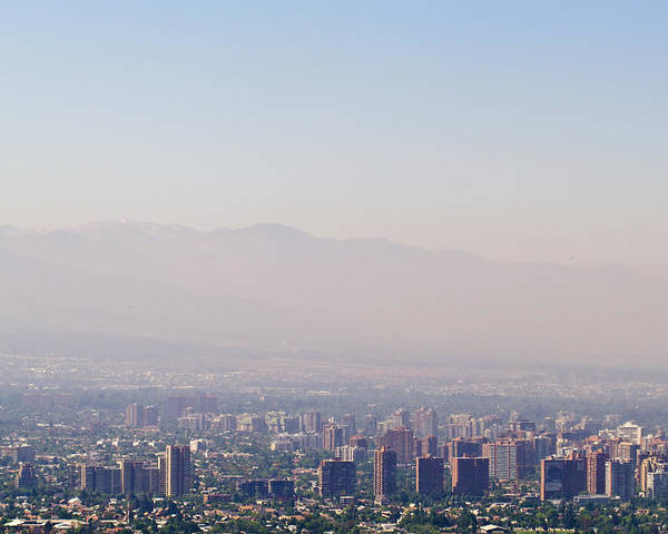 Photography Poster featuring the photograph Summer Smog And Pollution In Santiagos by Jason Edwards