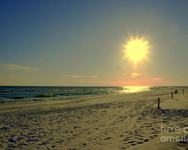 Sun Poster featuring the photograph Sunburst At Henderson Beach Florida by Susanne Van Hulst