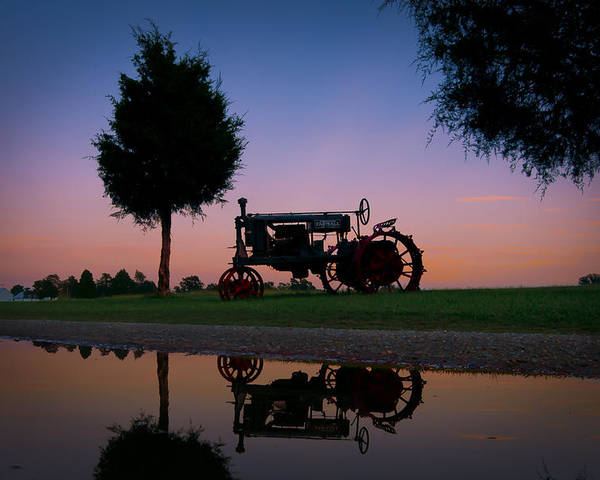 Chippokes Poster featuring the photograph Sundown On Farmall At Chippokes by Williams-Cairns Photography LLC