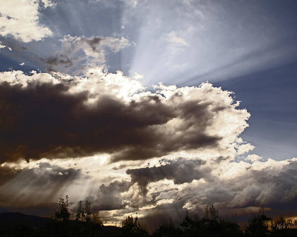 Sunlight Poster featuring the photograph Sunlight And Stormy Skies by Mick Anderson