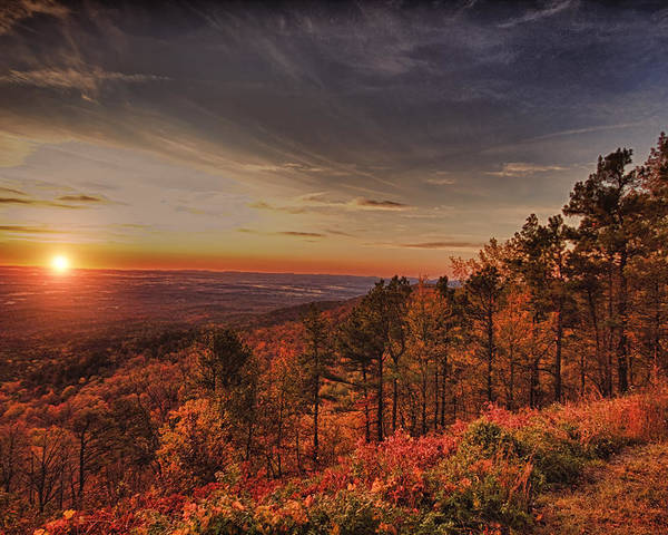 Sunrise Poster featuring the photograph Sunrise 2-talimena Scenic Drive Arkansas by Douglas Barnard