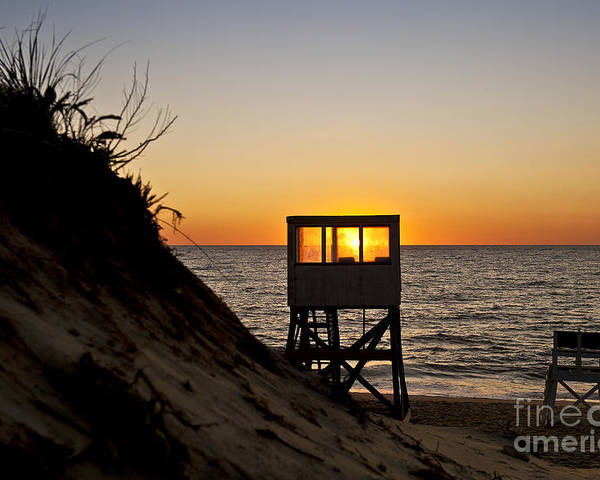 Beach Poster featuring the photograph Sunrise At Nauset Beach by John Greim