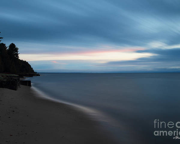 Michigan Upper Peninsula Poster featuring the photograph Sunrise In Paradise by Steve Javorsky