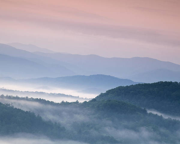 Sunrise Poster featuring the photograph Sunrise In The Smokies by Andrew Soundarajan