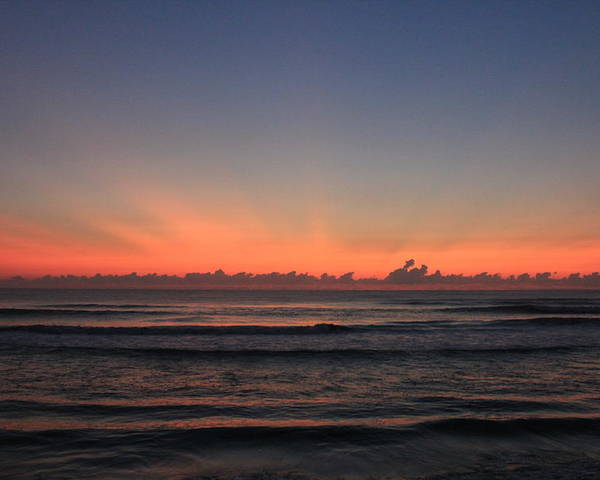 Sunrise Poster featuring the photograph Sunrise On The Beach by Rod Andress