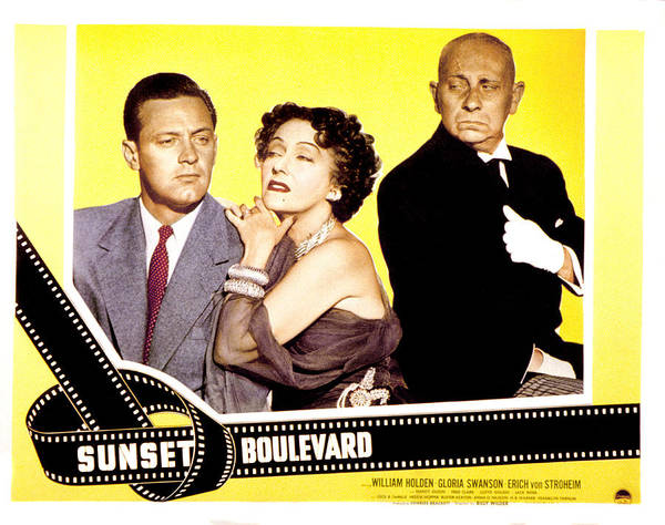 1950 Movies Poster featuring the photograph Sunset Boulevard, William Holden by Everett