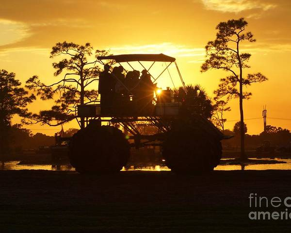 Sunset Poster featuring the photograph Sunset Buggy by Lynda Dawson-Youngclaus