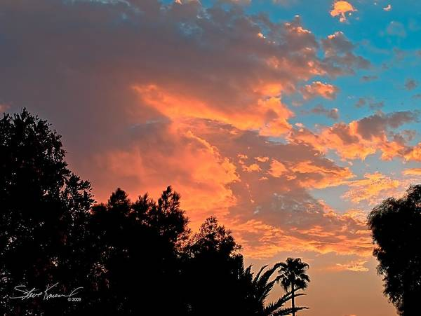 Nature Poster featuring the photograph Sunset In Calm Skies Two by Steve Knievel