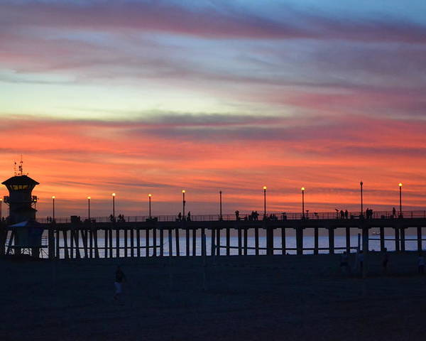 Sunset Poster featuring the photograph Sunset In San Diego by Karen Becker